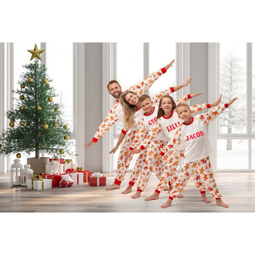 Matching family Gingerbread print Cotton Long sleeve Pyjamas