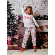 Load image into Gallery viewer, Matching family Festive Christmas print Long sleeve Pyjamas
