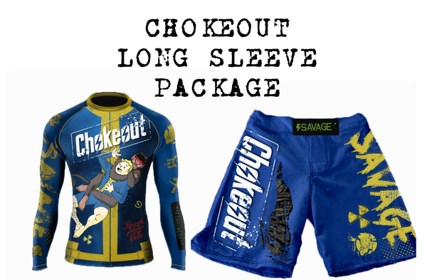Presale Choke Out Long Sleeve Rash Guard And Shorts Package Shipping Starts May 19th