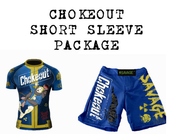 Presale Choke out Short Sleeve Rash Guard And Shorts Package Shipping Starts May 19th