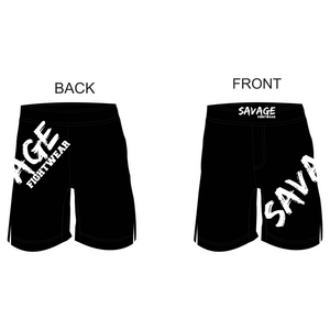 Black shorts White Logo