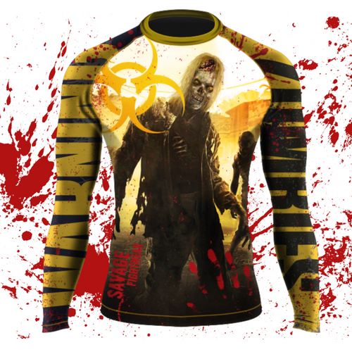 Zombie MMA/BJJ Long Sleeve Rash Guard And Shorts Package Shipping Starts October 30th