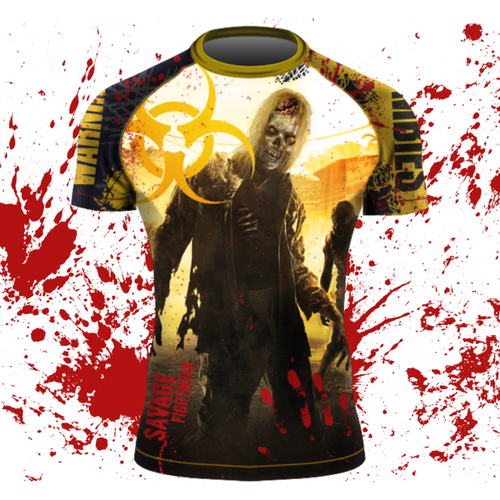 Zombie MMA/BJJ Shorts Sleeve Rash Guard And Shorts Package Shipping Starts October 30th