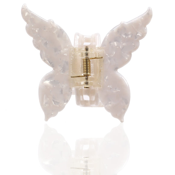 Butterfly Hair Claw Clip (White Cloud)
