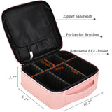 Makeup Organizer Bag/Case for Cosmetics (Pink)