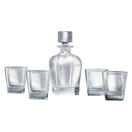 5 Piece Decanter Set With Custom Design Graphic