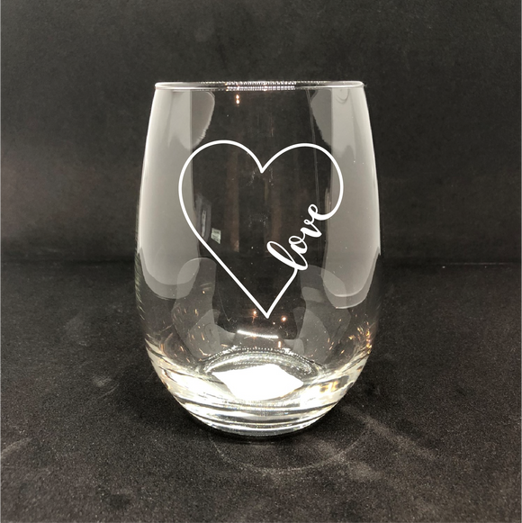 LOVE / Personalized Wine Glass