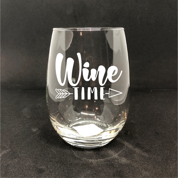 Wine TIME / Personalized Wine Glass