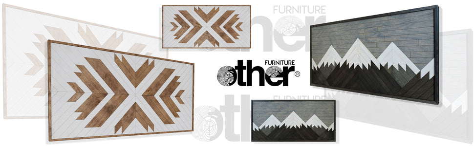 Other Furniture- Modern Home Decor Wood Wall Art