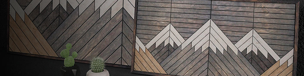 Mountains Wood Wall Hangings Collection - Other® Furniture