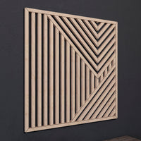 Geometric Wood Wall Art- Abstract Wooden Wall Art- Modern Wood Wall Art-Other Furniture- Modern Wood Wall Art