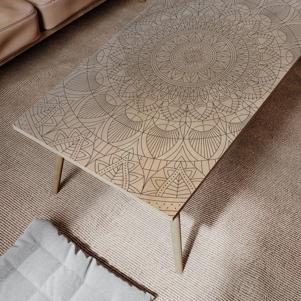 SAFFRON- Modern Coffee Table- Rustic Wooden Coffee Table