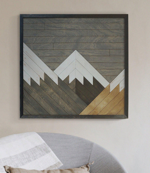 Cerro Torre- Reclaimed Wood Wall Decor- Rustic Wood Wall Art-Other Furniture- Modern Wood Wall Art