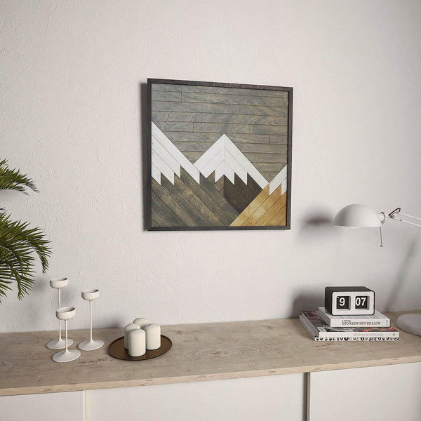 Cerro Torre Reclaimed Wood Wall Decor Rustic Wood Wall Art Other