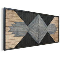 Native Ornament- Rustic Wood Wall Hanging- Reclaimed Wood Wall Panel-Other Furniture- Modern Wood Wall Art