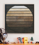 Balinese Dawn- Wood Wall Art Panel- Reclaimed Wood Wall Hanging-Other Furniture- Modern Wood Wall Art