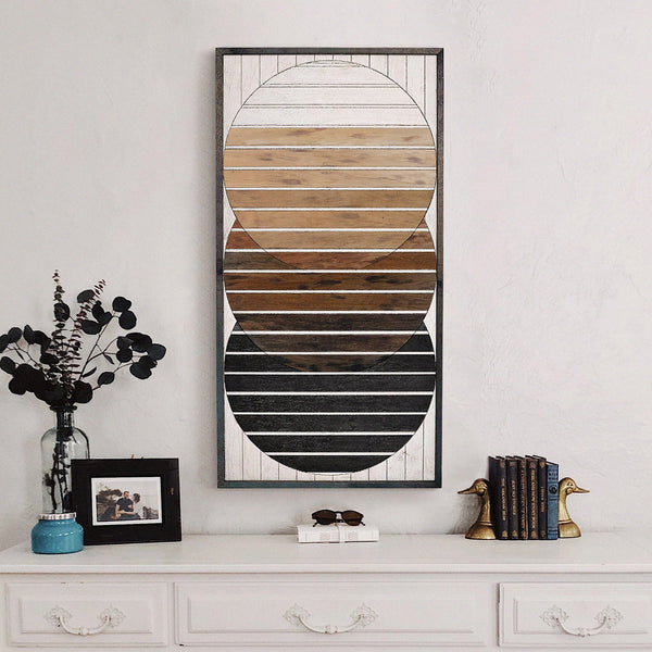 Modern Wood Wall Art Handcrafted Unique Wooden Home Decor Panels