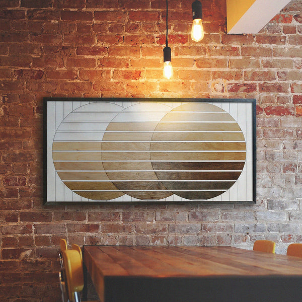 The Sun Rustic Wood Wall Art Modern Wood Wall Hanging Other