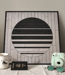 Starlight Geometric Wood Wall Art Panel- Modern Wooden Wall Art-Other Furniture- Modern Wood Wall Art