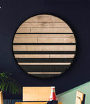 Skyline- Rustic Geometric Wall Hanging- Round Wood Wall Art Large-Other Furniture- Modern Wood Wall Art