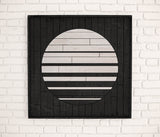 Silver Moon Wood Wall Art- Rustic Wood Wall Art- Round Wall Decor-Other Furniture- Modern Wood Wall Art