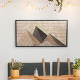 Mountains Wood Wall Art- Large Wood Wall Panel- Modern Wood Wall Art-Other Furniture- Modern Wood Wall Art