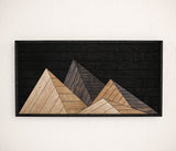 Mountains Wood Wall Art- Large Modern Wood Wall Art- Rustic Wall Art Panel-Other Furniture- Modern Wood Wall Art