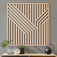 Abstract Wood Wall Art- Modern Geometric Wooden Wall Hanging- Large Wall Art-Other Furniture- Modern Wood Wall Art