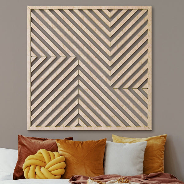 Wood Wall Art Decor Panel- Modern Wooden Wall Art- Large Wood Wall Art- Geometric Wood Wall Panel- Rustic Wood Wall Art- Wooden Wall Hanging-Other Furniture- Modern Wood Wall Art