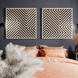 Modern Wall Art- Wood Wall Art Set- Abstract Wooden Wall Art- Geometric Wood Wall Hanging