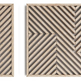 Large Geometric Wood Wall Hanging Set- Modern Wood Wall Art Set of 3