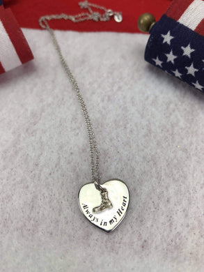 Always In Our Heart Boot Charm Necklace