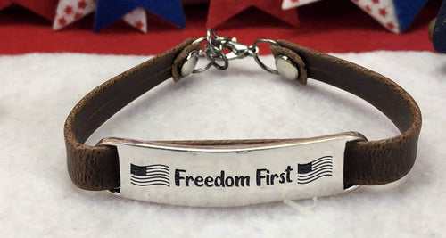 Freedom First Leather Bracelet