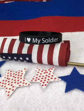 I Love My Soldier Wristband