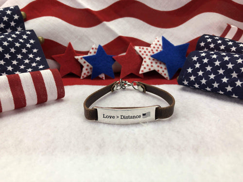 Love > Distance Leather Bracelet