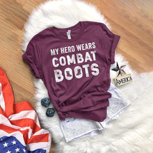 Load image into Gallery viewer, My Hero Wears Combat Boots T-Shirt