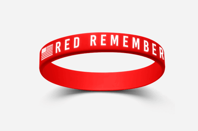 RED Remember Everyone Deployed Flag Wristband