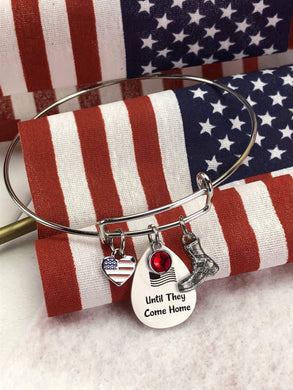 Until They Come Home Bangle Bracelet