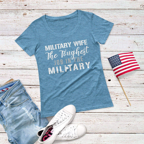 Military wife Triblend Short Sleeve Tee