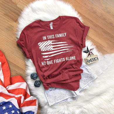 In This Family No One Fights Alone T-shirt