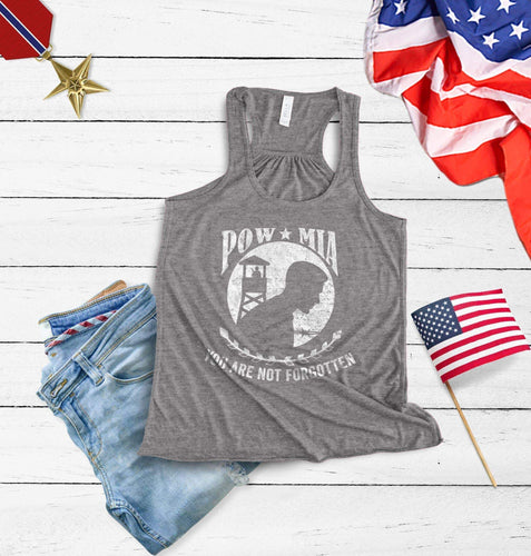 Pow Mia you are not forgotten Racerback Tank