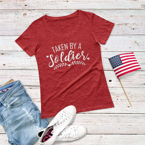 Taken By a soldier Triblend Short Sleeve Tee