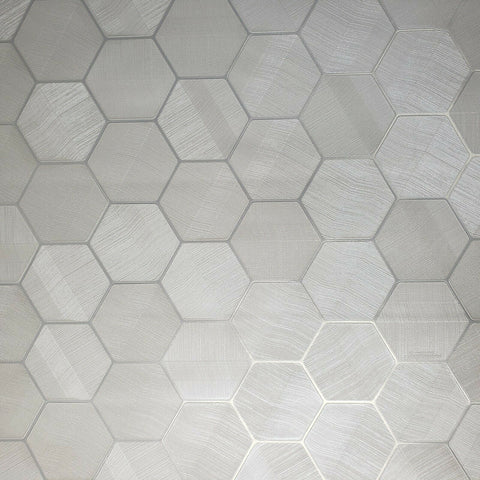 DZ4480601 Hexagon white Wallpaper