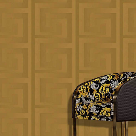 93523-2 Solea Gold Satin Greek Wallpaper