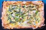 Asparagus and Courgette Filo Slice