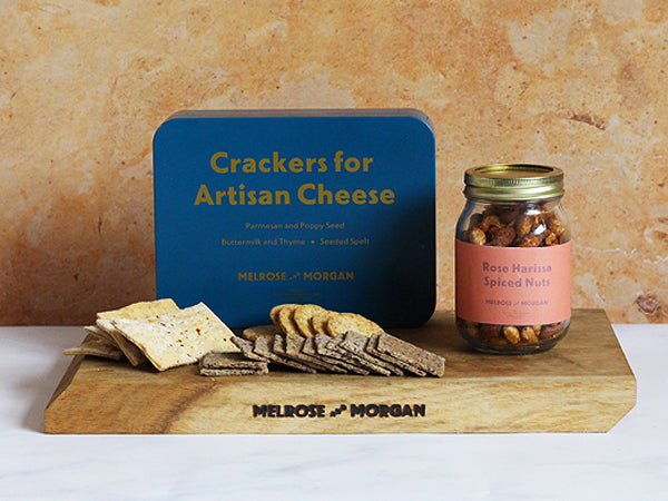 Savoury crackers, nuts and crisps