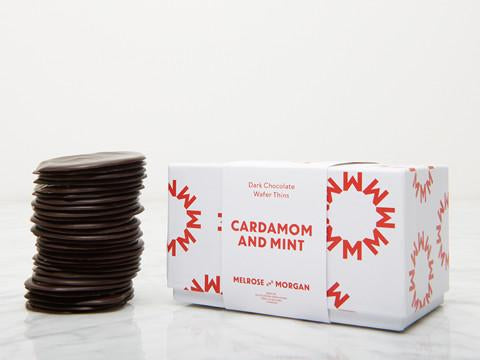 Cardamon and Mint Dark Chocolate Thins