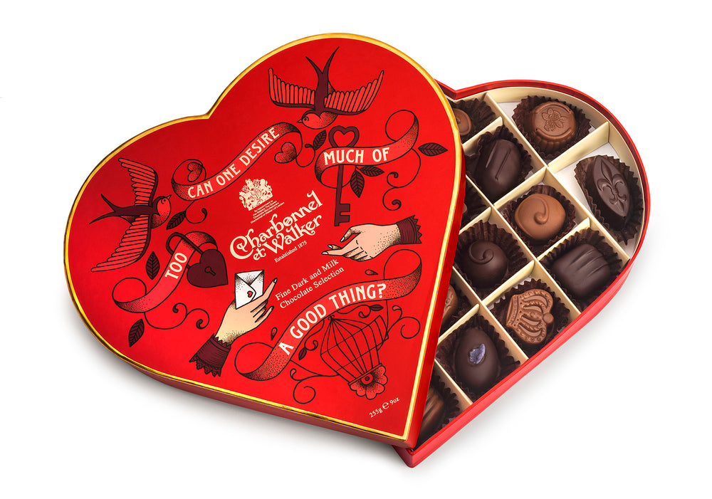 Luxury Valentine's Milk and Dark Chocolate Selection