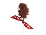 Cocoa Loco Milk Chocolate Santa Lolly
