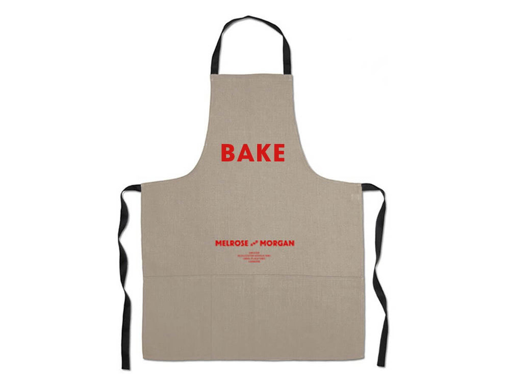 MM Linen Apron  'BAKE'